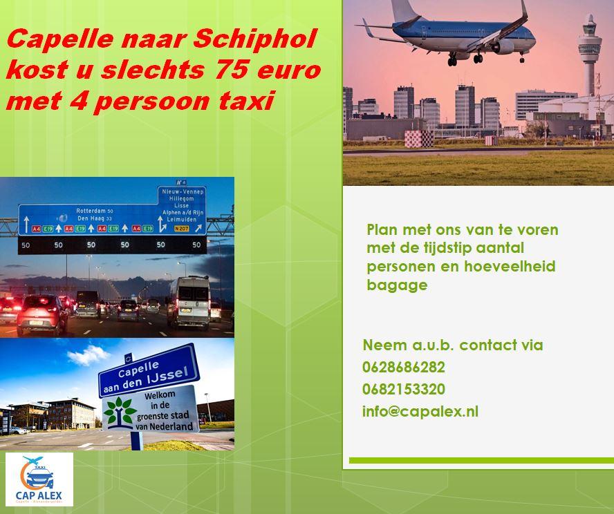 Taxi naar Schipol